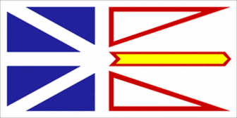 This image of the Canada newfoundland flag is in the Public Domain and ...
